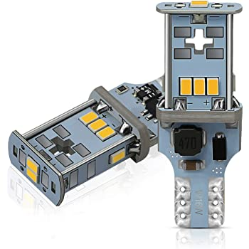 AUXITO T16 LED バックランプ 爆光1300ルーメン キャンセラー内蔵 バックランプ T16 / T15 3020LED10連 18ヶ月保証 12V 無極性 ホワイト 後退灯 バックライト 50000時間以上寿命 (2個セット)