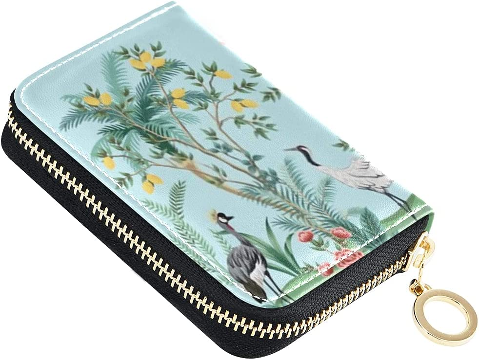 Card Max 77% OFF sold out Wallet Vintage Chinoiserie Floral Fruit Le Tree Palm Small