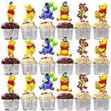 BESTZY 120pcs Winnie the Pooh Cupcake Toppers Decoración Tartas de Cumpleaños Pasteles Pooh cariño Torta Primeros Tigger Magdalena Kit Pastel Para Niños Niñas