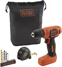 BLACK + DECKER BDCD8GPA 7.2V Li-Ion Cordless Drill Kit (Orange, 14-Pieces)