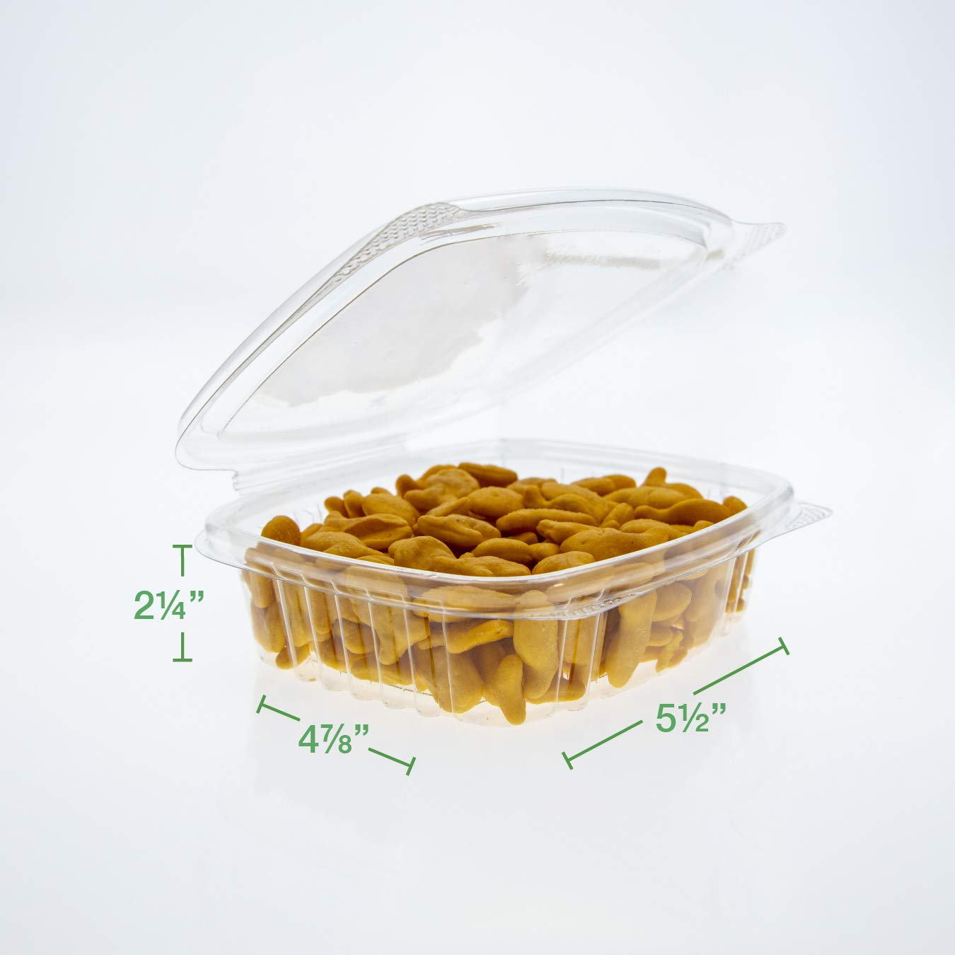Leak Resistant Made in The USA Unmatched Clarity BPA Free Case of 400 Containers Patented 360-Degree Seal 4 oz Clear Hinged Deli Container 100/% Recyclable Genpaks AD04 Deli Container