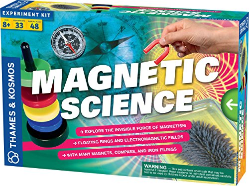 Thames & Kosmos Magnetic Science | 33 STEM Experiments | Ages 8+ | Learn About Earth's Magnetic Poles | Discover How Invisible Magnetic Fields Work | Full-Color 48-Page Manual