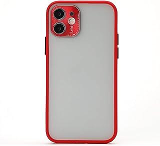 BAIYUNLONG Funda Protectora, Cobertura Completa TPU + PC Funda Protectora con Cubierta de Lentes de Metal para iPhone 12 P...