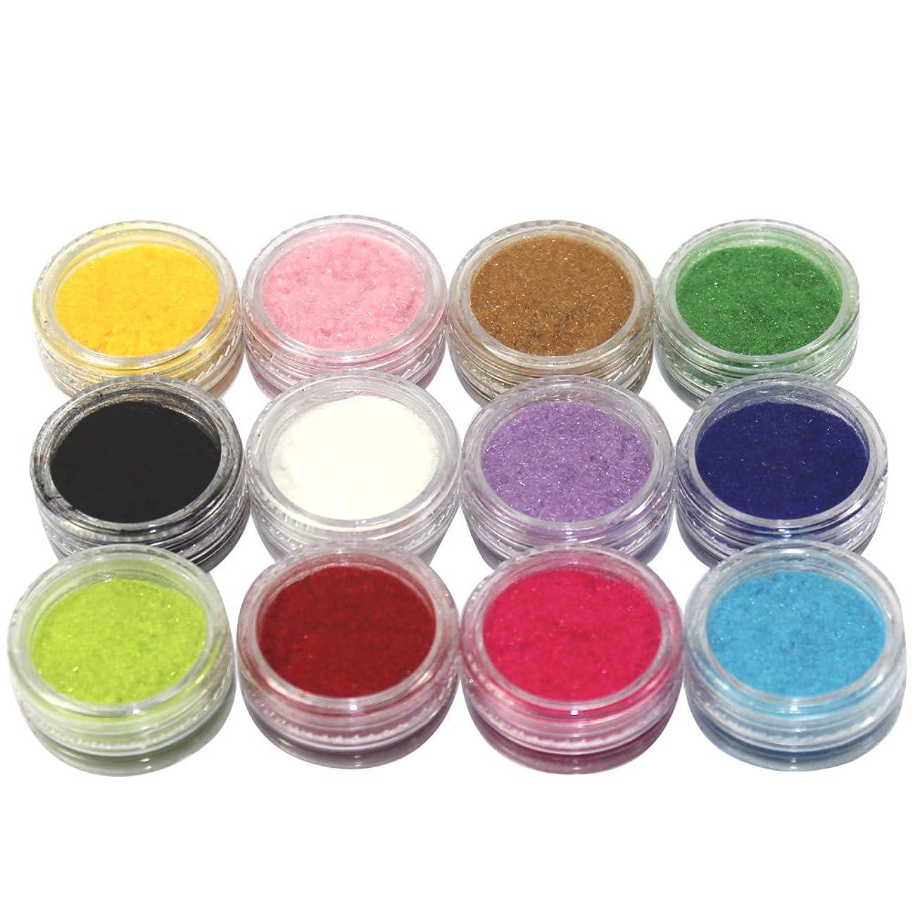 療法準備するマインド(メイクアップエーシーシー) MakeupAccネイルアートDIY ふわふわベロア調ネイルベルベットパウダー フロッキーパウダー ネイルデコセット 12色入り ネイルパーツ コンテナケース付き [並行輸入品]