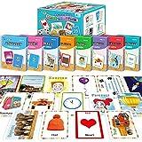 208 PCS Flash Cards Set for Toddler 2,3,4 Years Old, 8 Theme - Alphabet, Number, First Sight Word, Color & Shape, Animal, Emotion, Transport, Time & Money FlashCard for Preschool/Kindergarten Learning