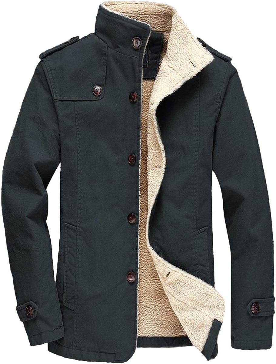 FTIMILD Men's Winter Jackets Fleece Park Coats Max 75% OFF Sherpa Warm Ranking TOP2 Lined