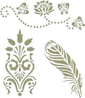 J BOUTIQUE STENCILS 3 Designs Art Stencil - Reusable Craft Projects & DIY Projects
