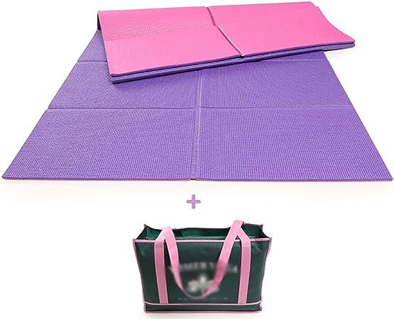 a Righe Sport per Campeggio Ecologico e Naturale Multicolore Yoga Sottile Pieghevole Kuizhiren1 Tappetino da Yoga Ultraleggero da Viaggio Leggero
