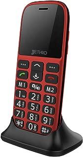 Jethro 3G Unlocked Senior & Kids Bar Cell Phone Model SC318v2 Red