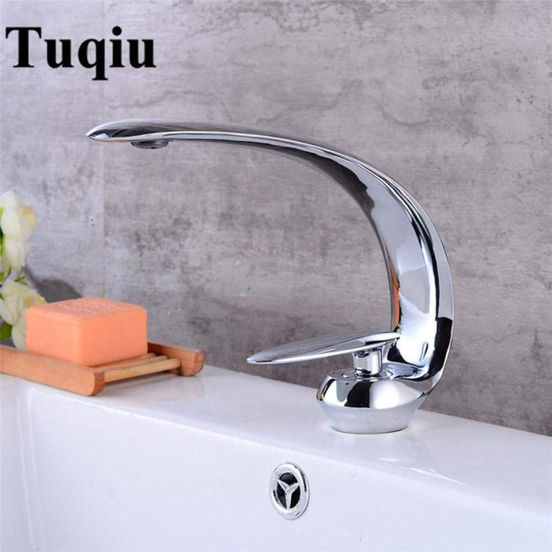 Kai&Guo Basin Faucet Modern Bathroom Mixer Tap Brass Wash basin Faucet Single Handle Single Hole Elegant Crane For Bathroom,chrome