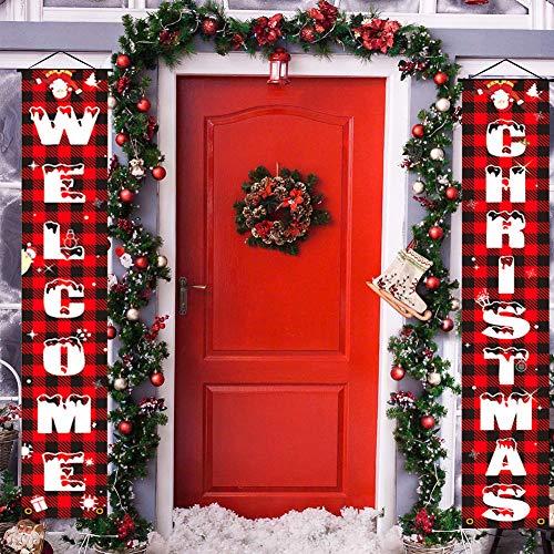 2 letreros de Navidad para puerta o panadería, decoración navideña