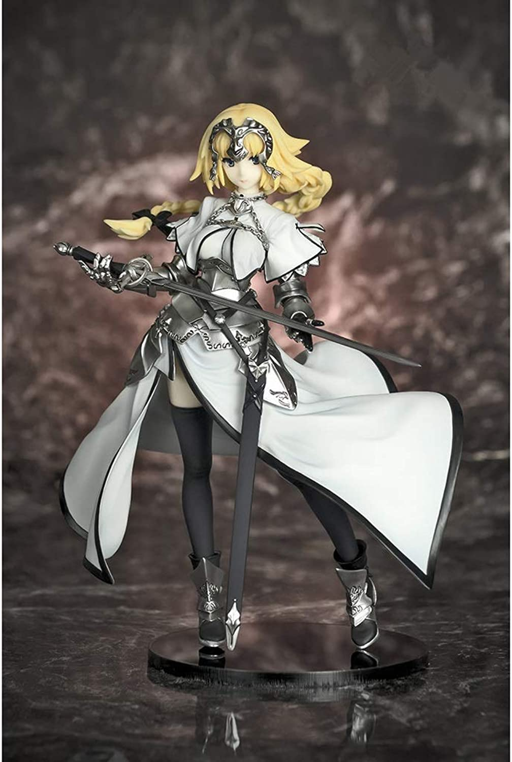 Siyushop Fate Grand Order Ruler Jeanne D'Arc Action Figure  Highly Detailed Accurate Sculpt  Equipped With Weapons  High 20CM (color   White)