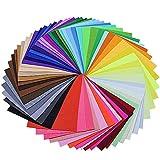 BUZIFU Fieltro para Manualidades 60 Colores 230 x 300 mm No Tejido Tela de Fieltro, Suave y Puede Cortar Libremente, Ideales para Hacer DIY Muñequitos y Manualidades