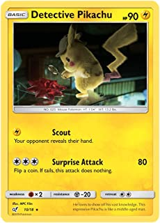 Detective Pikachu - 10/18 - Rare - Detective Pikachu