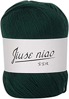 Feteso 毛糸 並太 1玉50g 無地 編み糸 アソートカラー 手芸糸 編み物 毛糸セット カラーランダム たわし 1玉当たり 50g 約120m Soft Natural Knitting Crochet Knitwear Wool Yarn