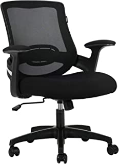 Hbada Ergonomic Office Chair Computer Desk Chair Mid-Back Mesh Task Chair with Strong Shield Type Lumbar Support, Height A...
