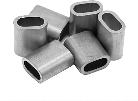 20x Aluminium Pressklemme 4.5 mm Drahtseilklemmen Constrabo/® DIN 3093 | Pressh/ülsen Draht Seilverbinder Alu Klemme Stahlseil Pressklemmen f/ür Seile Ovale Alu-Pressklemmen nach DIN EN 13411-3