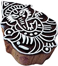Indian Print Stamps Lord Ganesh Pattern Wooden Blocks - DIY Henna Fabric Textile Paper Clay Pottery Block Printing Stamp