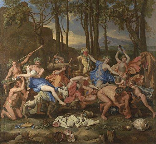 The Museum Outlet – Nicolas Poussin – Le Triomphe de pan, Tendue sur toile Galerie enveloppé. 50,8 x 71,1 cm