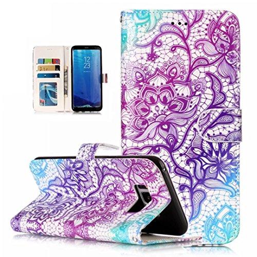 iPhone 5/5S/5SE hoesje PU Lederen Flip portemonnee case credit card slot functies magnetische off stent functie 3D patroon patroon ontwerp beschermende DECHYI case, Portemonneehouder, FD13, Samsung Galaxy S8