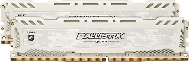 Crucial Ballistix Sport LT 2666 MHz DDR4 DRAM Desktop Gaming Memory Kit 16GB (8GBx2) CL16 BLS2K8G4D26BFSCK (White)