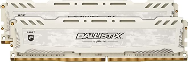 Crucial Ballistix Sport LT 2666 MHz DDR4 DRAM Desktop Gaming Memory Kit 16GB (8GBx2) CL16 BLS2K8G4D26BFSC (White)
