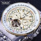 CYRIL Jaragar Aviator Series Military Scale Elegant Tourbillon Design Luxury Automatic Men's Wrist