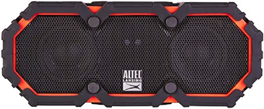 Altec Lansing LifeJacket 2 Bluetooth Speaker, IP67 Waterproof, Shockproof, Snowproof, Everything-Proof Rating, 30-Foot Range Along with Extra Audio Horsepower, 16 Hours of Battery Life, Deep Red