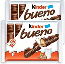Kinder Bueno Milk Chocolate Family Pack - 6 x 43g bar, 12 pieces total
