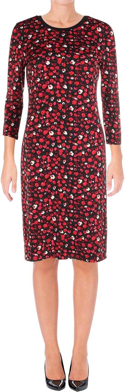 Ralph Lauren Womens Floral Shift Dress Redmu L