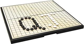 シングル凸磁気プラスチック石と囲碁板で磁気囲碁ゲームセット (色 : As picture, サイズ : 28*15*3cm)
