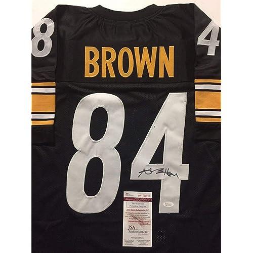 362b3e44ac2 Autographed/Signed Antonio Brown Pittsburgh Black Football Jersey JSA COA