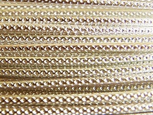 30 m de cable, color aluminio estriado 2 mm