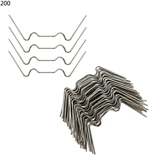 haptern Greenhouse Glazing Clips,100/200 Pcs Greenhouse Glass Pane Fixing Clips Stainless Steel W Type 1.2 Mm Greenhouse Glass Clamps Method parsimonious
