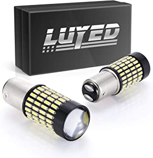 LUYED 2 X 1700 Lumens Extremely Bright 1157 4014 102-EX Chipsets 1157 2057 2357 7528LED Bulbs, Xenon White(Brightest LED in market)