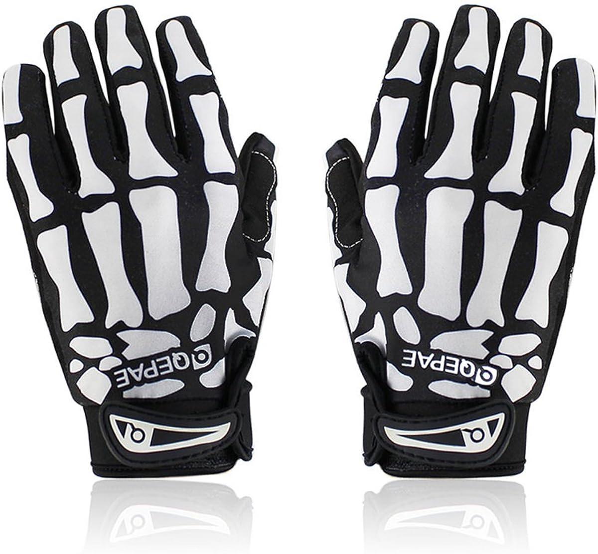 Skeleton Gloves for Max Popular brand 69% OFF Women Men Padded Skull Gel Anti-Slip