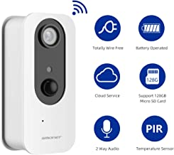 SMONET Full HD 1080P Wireless Security Camera,Wire-Free IP Camera Rechargeable Battery Powered Surveillance System with Two-Way Audio,Night Vision, PIR Alarm,Used for Baby/Pet, Support Micro SD Card