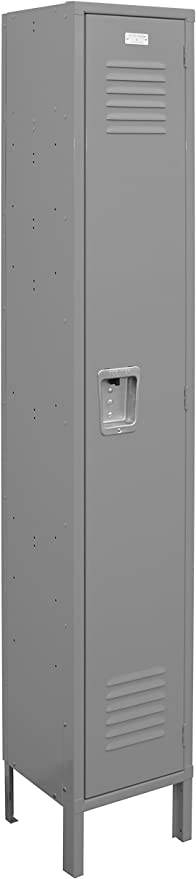 Dove Gray 6-Feet High 12-Inch Deep 12-Inch Wide ValTec Metal Locker by Lyon Assembled DDVT54041SU Four Tier Box Style