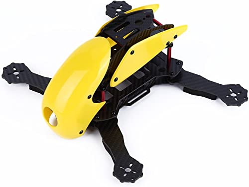 YKS DIY Robotcat Pure Carbon Fiber Mini 270 Quadcopter Frame Kit w  Hood Cover for FPV Racing Quadcopter Parts (Gelb)