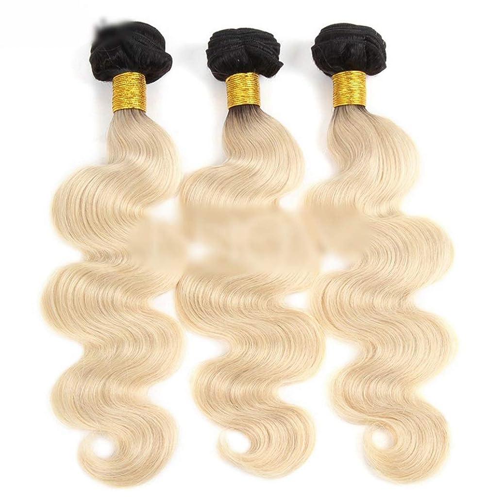 降ろす真鍮洗練されたBOBIDYEE 9Aブラジル人毛実体波髪の束 - 1B / 613金髪ヘアエクステンション100g /個(16インチ-24インチ)かつら (色 : Blonde, サイズ : 16 inch)