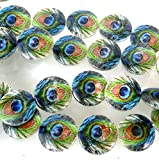 18mm Peacock Mother of Pearl Disc Coin MOP Beads 15', Beading, Jewelry Making, DIY Crafting, Arts & Sewing by Perfect Beads Store