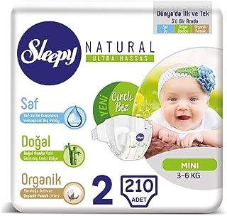 Sleepy Bebek Bezi 2 Beden Yenidoğan 3-6 Kg (5 * 42) 210 Adet