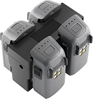 RC GearPro DJI Spark Parallel Battery Charger Hub Charging Station Compatible for DJI Spark Drone