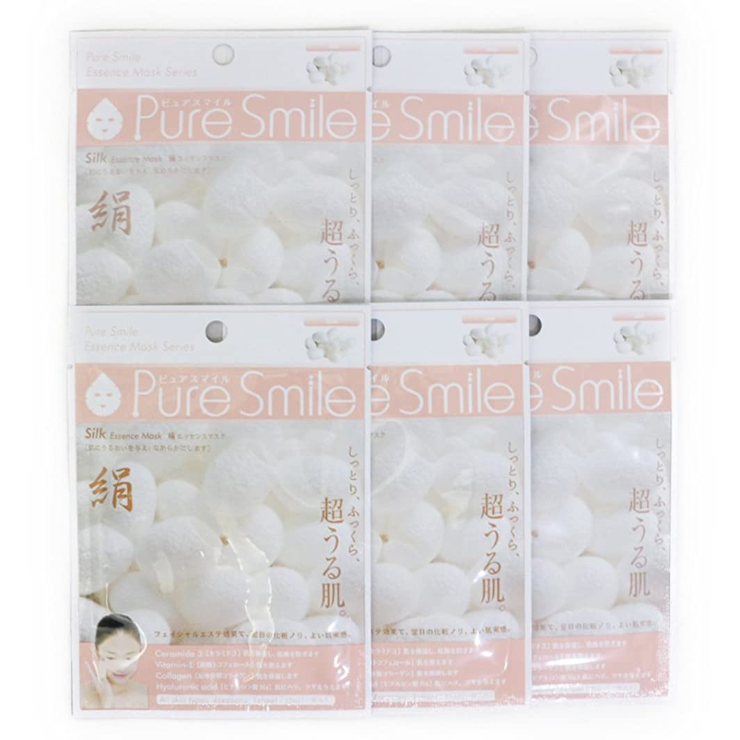 型わがまま吸うPure Smile ピュアスマイル エッセンスマスク 絹 6枚セット