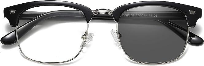 Photochromic Glasses Anti-Blue Light &Polarized Sunglasses for Computer Reading/Gaming/TV/Phones/Outdoor Travel (Black)