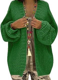 ORANDESIGNE Femmes Gilet Cardigan Mode Grande Taille Veste en Tricot Chaud Hiver Pull Tricoté Casual Grosse Maille Outwear...