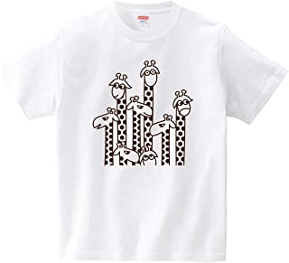 キリンさんたくさん(Tシャツ?ホワイト) (CHATON_CATON_T)