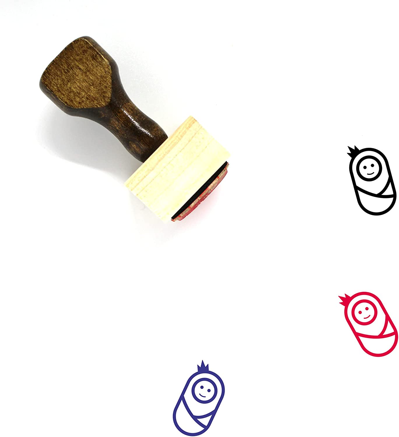 Royal Baby Wooden Rubber Stamp Sale item No. Easy-to-use x 3