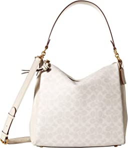 Coated Canvas Signature Shay Shoulder Bag