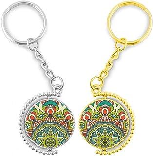 """DIY thinker opdruk """"Cloth Green"""" bont kunst ring metaal gouden deur - sleutel"""